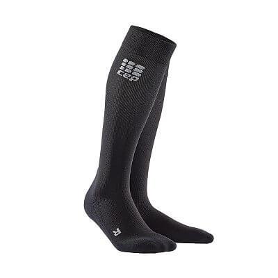 Ponožky CEP Podkolenky pro regeneraci merino pánské černá