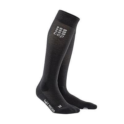 Ponožky CEP Outdoorové podkolenky ultralight merino pánské lava stone