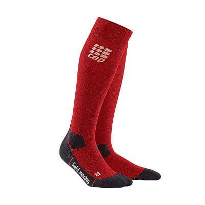 Ponožky CEP Outdoorové podkolenky ultralight merino pánské deep magma