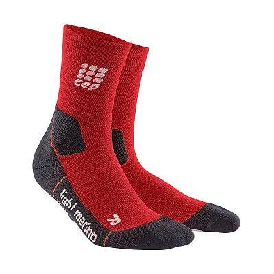 Ponožky CEP Outdoorové ponožky ultralight merino pánské deep magma