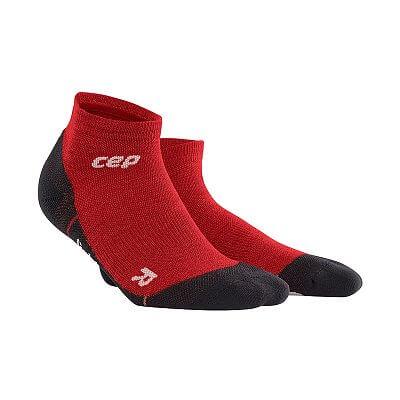 Ponožky CEP Outdoorové kotníkové ponožky ultralight merino pánské deep magma