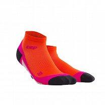 CEP Kotníkové ponožky dámské tmavě oranžová / růžová