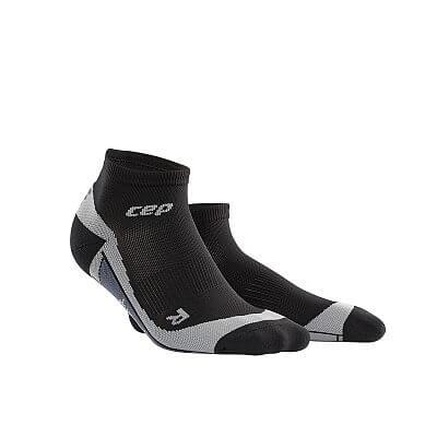 Ponožky CEP Kotníkové ponožky pánské černá / šedá