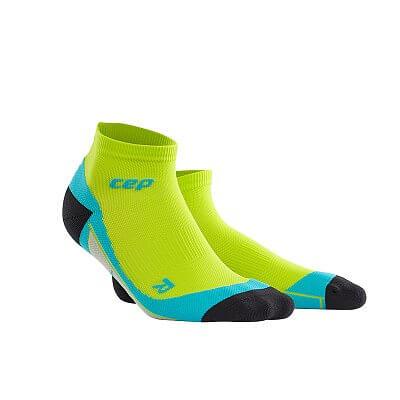 Ponožky CEP Kotníkové ponožky pánské limetková / havajská modř