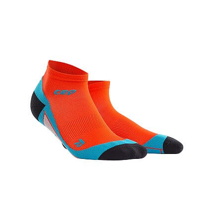 Ponožky CEP Kotníkové ponožky pánské tmavě oranžová / havajská modř
