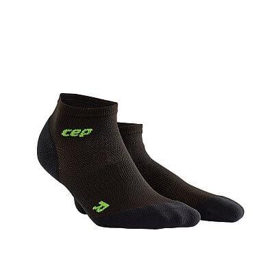 Ponožky CEP Kotníkové ponožky ultralight pánské černá / zelená