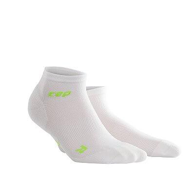 Ponožky CEP Kotníkové ponožky ultralight pánské bílá / zelená