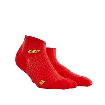 Ponožky CEP Kotníkové ponožky ultralight pánské červená / zelená