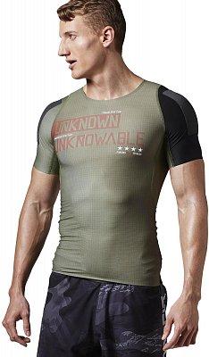 Pánské sportovní tričko Reebok RCF SS Compression Shirt built with Kevlar