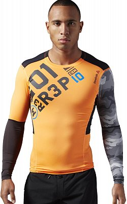 Pánské sportovní tričko Reebok ONE Series PW3R LS Compression Top