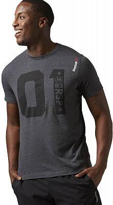 Pánské sportovní tričko Reebok ONE Series One More Rep Triblend SS Top