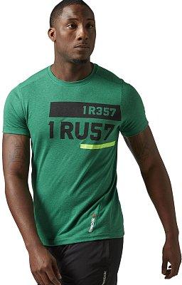 Pánské sportovní tričko Reebok ONE Series I Rest I Trust Triblend SS Top