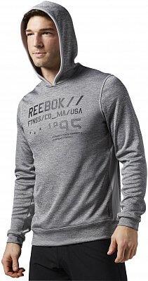 Pánská sportovní mikina Reebok Work Out Ready Melange Graphic Hood