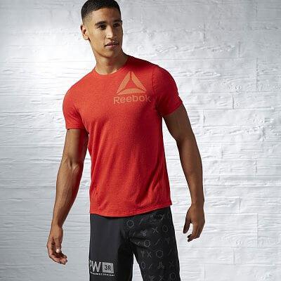 Pánské sportovní tričko Reebok ONE Series Big Logo Triblend SS Top