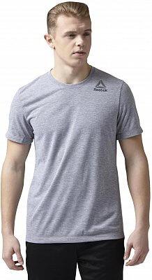 Pánské sportovní tričko Reebok Workout Ready Stacked Logo Supremium Tee