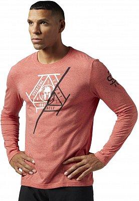 Pánské běžecké tričko Reebok Spartan Fan LS Cotton Spartan Branded Tee