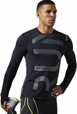 Pánské běžecké tričko Reebok ONE Series Running LS ActivChill Tee