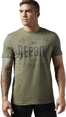 Pánské sportovní tričko Reebok USA Brand Graphic Tee