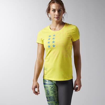 Dámské sportovní tričko Reebok CF Performance Blend SS Tee Graphic