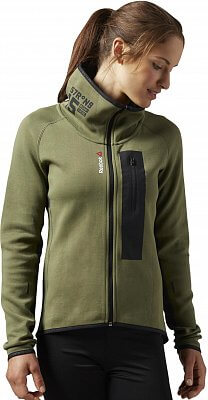 Dámské sportovní tričko Reebok ONE Series Quik Cotton Full Zip