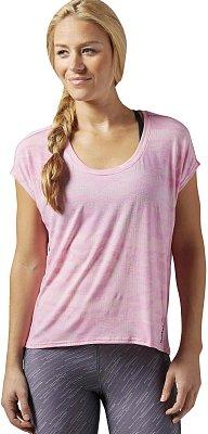Dámské sportovní tričko Reebok ONE Series Burnout Tee