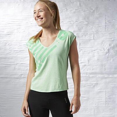 Dámské sportovní tričko Reebok ONE Series Triblend Vneck Tee