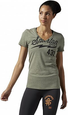Dámské běžecké tričko Reebok Spartan Race Tri-blend Short Sleeve Tee 1