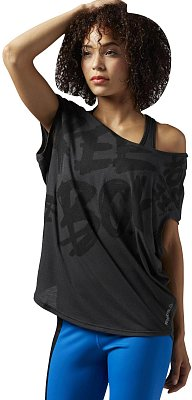Dámské sportovní tričko Reebok Dance Reebok Read Graphic Circle Tee