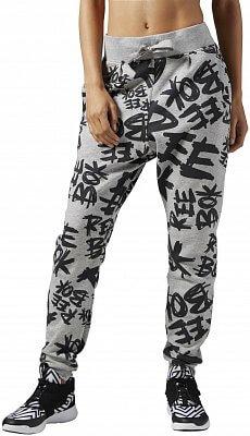 Dámské sportovní kalhoty Reebok Dance AOP Knit Drop Crotch
