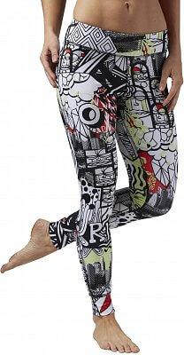 Dámske športové nohavice Reebok Yoga Graffiti Collab Tight 5e08bac6abb