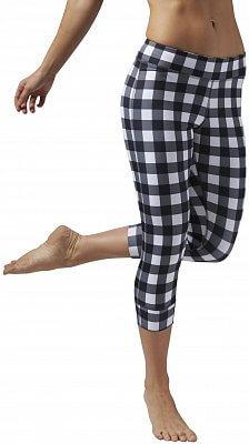 Dámské sportovní kalhoty Reebok Yoga Gingham Capri