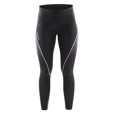 Kalhoty Craft W Kalhoty Delta Compression Tights černá s růžovou