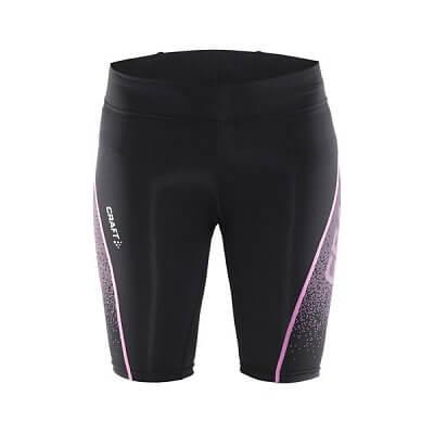 Kraťasy Craft W Kalhoty Delta Compression Fitness černá s růžovou