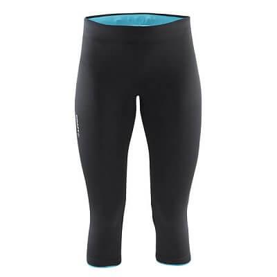 Kalhoty Craft W Kalhoty Prime Capri černá se zelenou