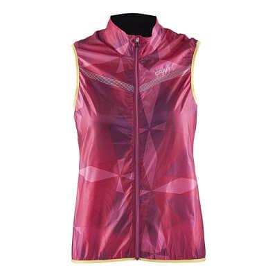 Vesty Craft W Cyklovesta Featherlight potisk růžová