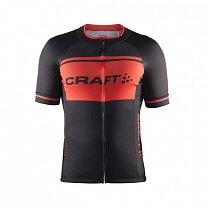 Craft Cyklodres Classic Logo černá s oranžovou