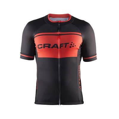 Trička Craft Cyklodres Classic Logo černá s oranžovou