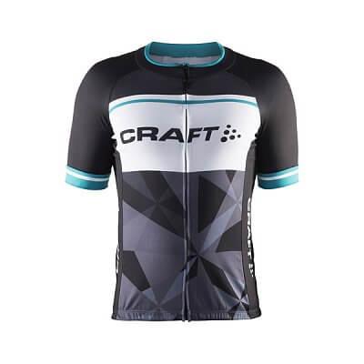 Craft Cyklodres Classic Logo černá se zelenou