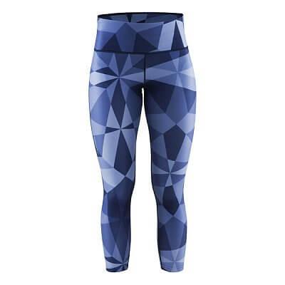 Kalhoty Craft W Kalhoty Pure Print 7/8 potisk tm.modrá