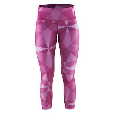 Kalhoty Craft W Kalhoty Pure Print 7/8 potisk růžová