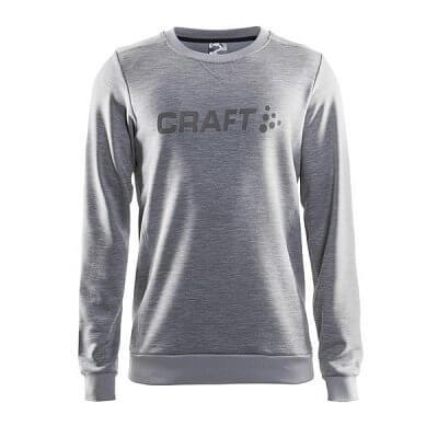 Mikiny Craft Mikina Precise šedá+šedé logo
