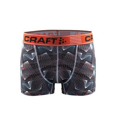 """Spodní prádlo Craft Boxerky Greatness 3"""" potisk černá+oranžová"""