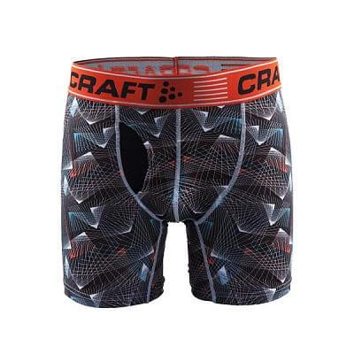 """Spodní prádlo Craft Boxerky Greatness 6"""" potisk černá+oranžová"""
