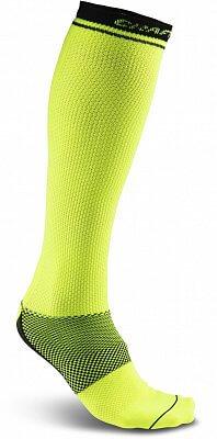 Ponožky Craft Podkolenky Body Control žlutá