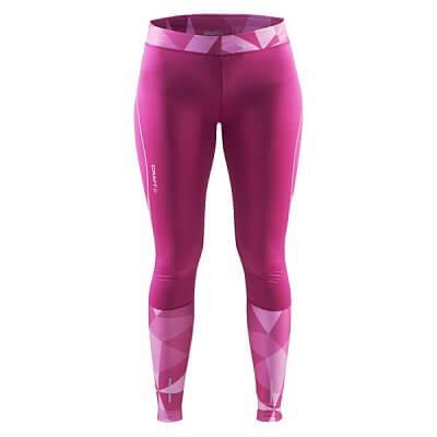 Kalhoty Craft W Kalhoty Devotion Tights potisk růžová