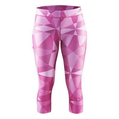 Kalhoty Craft W Kalhoty Devotion Capri potisk růžová