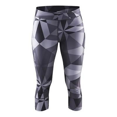 Kalhoty Craft W Kalhoty Devotion Capri potisk černá