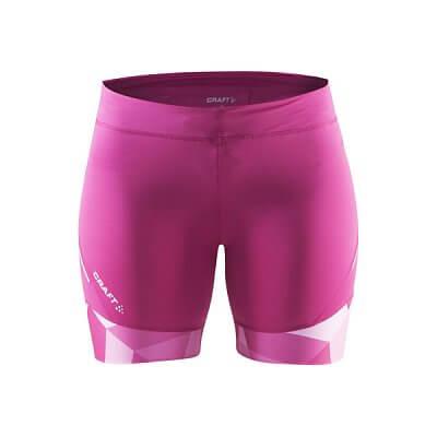 Kraťasy Craft W Kalhoty Devotion Fitness potisk růžová