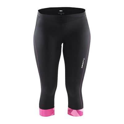 Kalhoty Craft W Cyklokalhoty Velo Knickers černá s růžovým potiskem