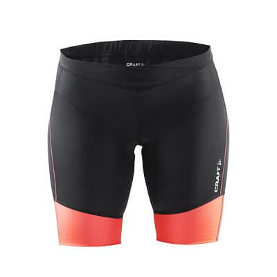 Kraťasy Craft W Cyklokalhoty Velo Shorts černá s oranžovou